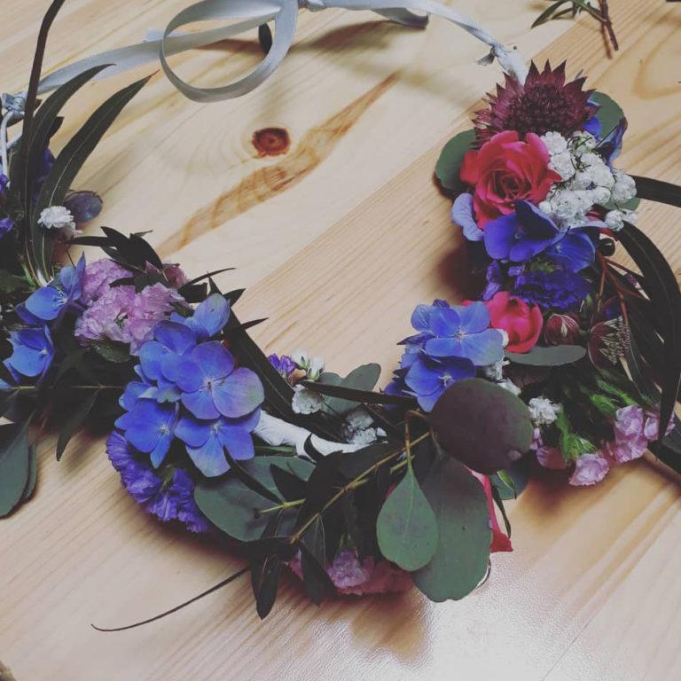 atelier couronne fleurs fraiches lyon