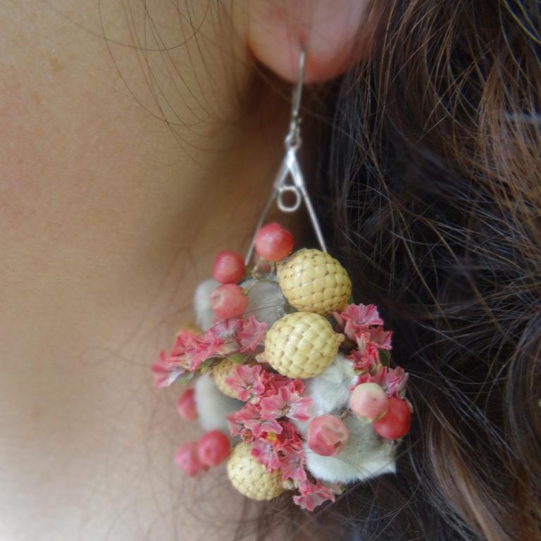 boucle oreille vegetale