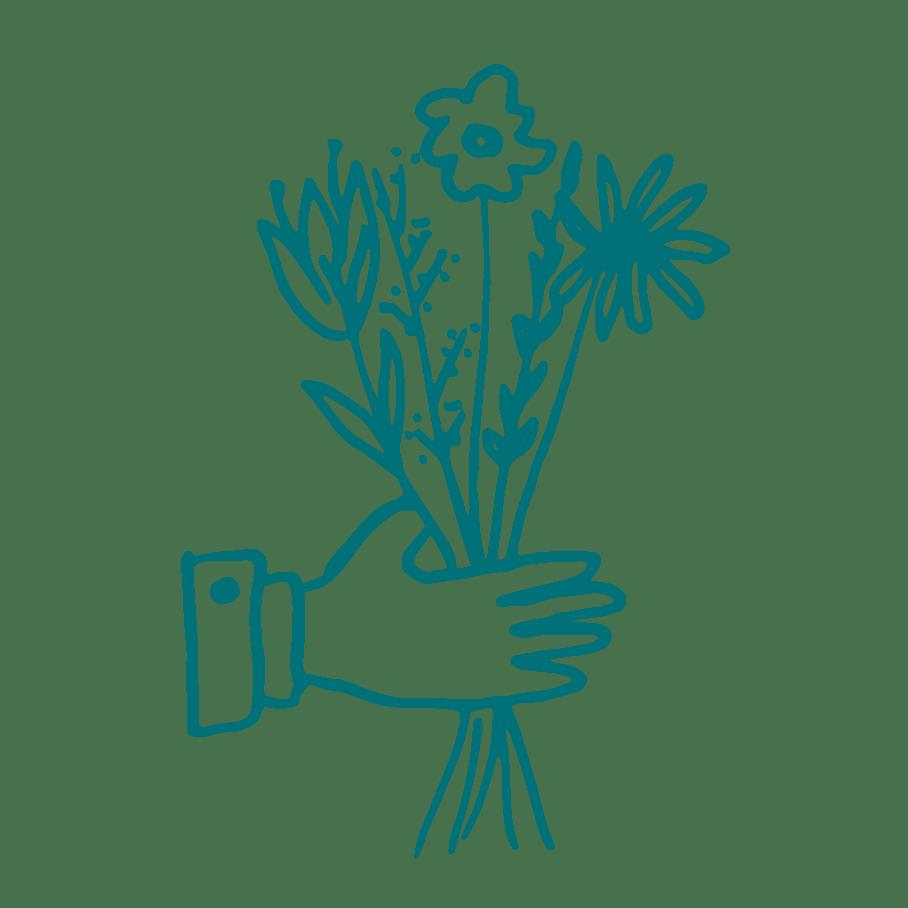 illustration livraison bouquet