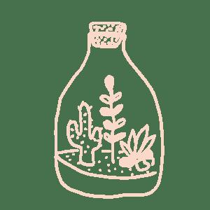 illustration terrarium