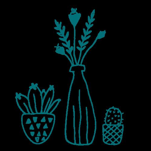 illustration bouquet de fleurs et plantes
